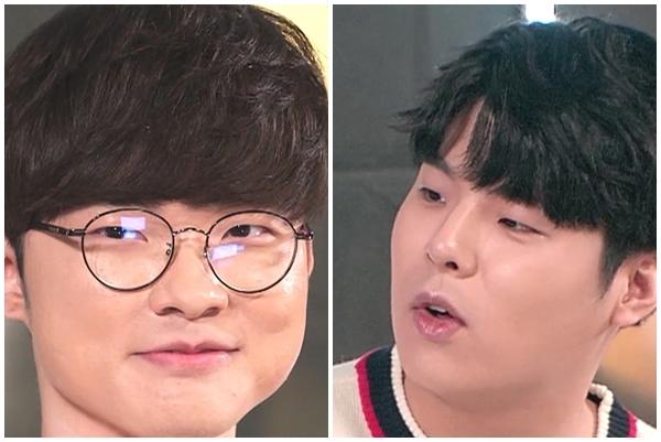 왼쪽부터 '페이커' 이상혁 선수, 문호준 선수.